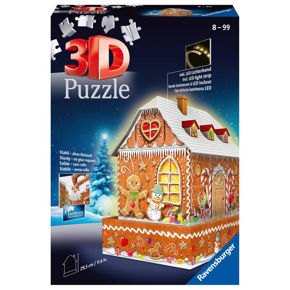 Ravensburger 3D-puzzel peperkoekhuis - 216 stukjes