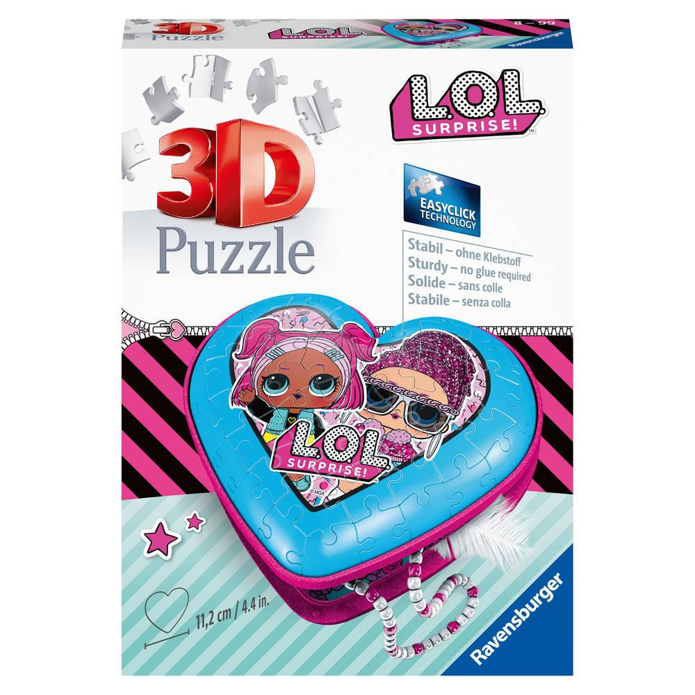 Ravensburger L.O.L. Surprise puzzel hartendoos - 54 stukjes