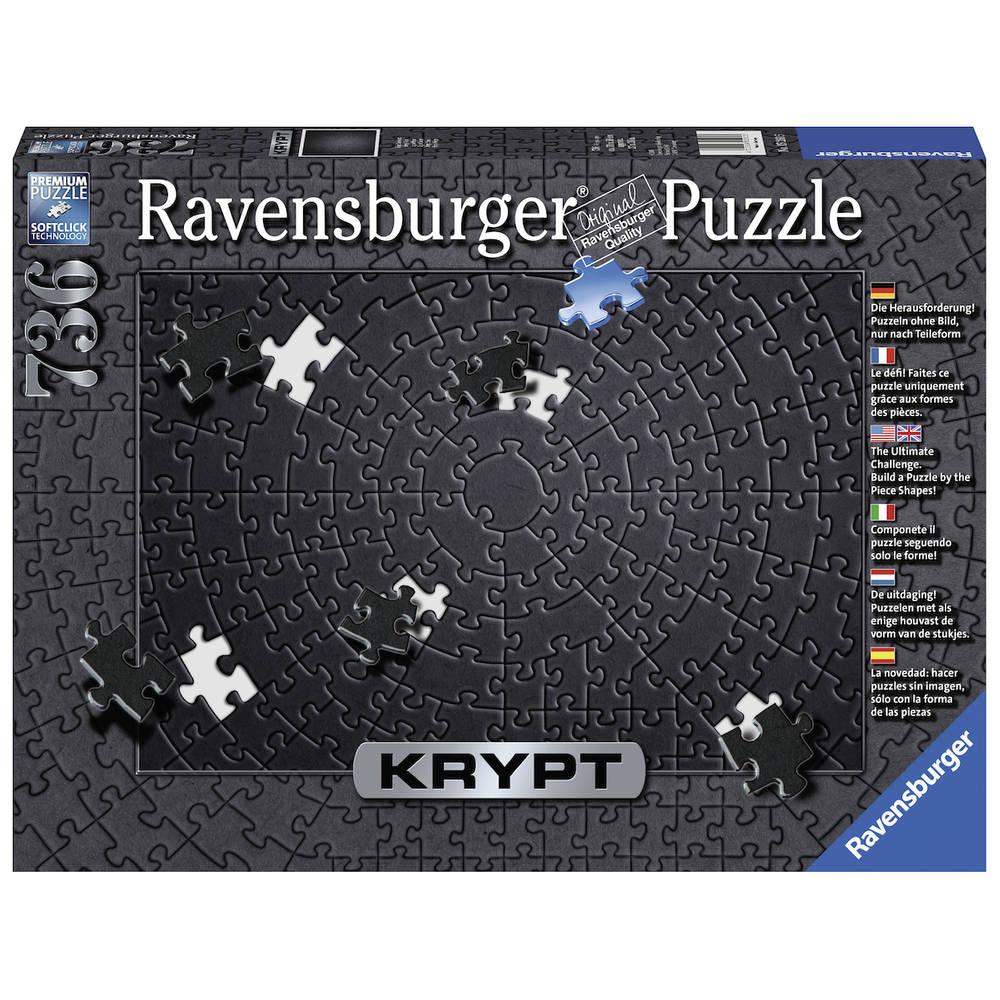 Ravensburger puzzel Krypt zwart - 736 stukjes