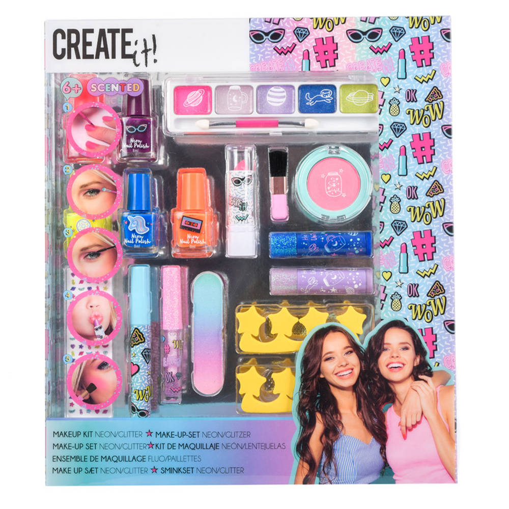 Create It! make-up set - neon glitter