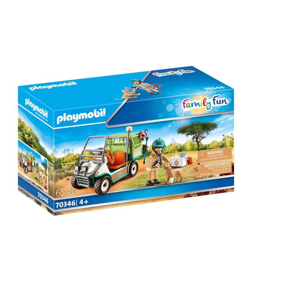 PLAYMOBIL Family Fun dierenverzorger met voertuig 70346