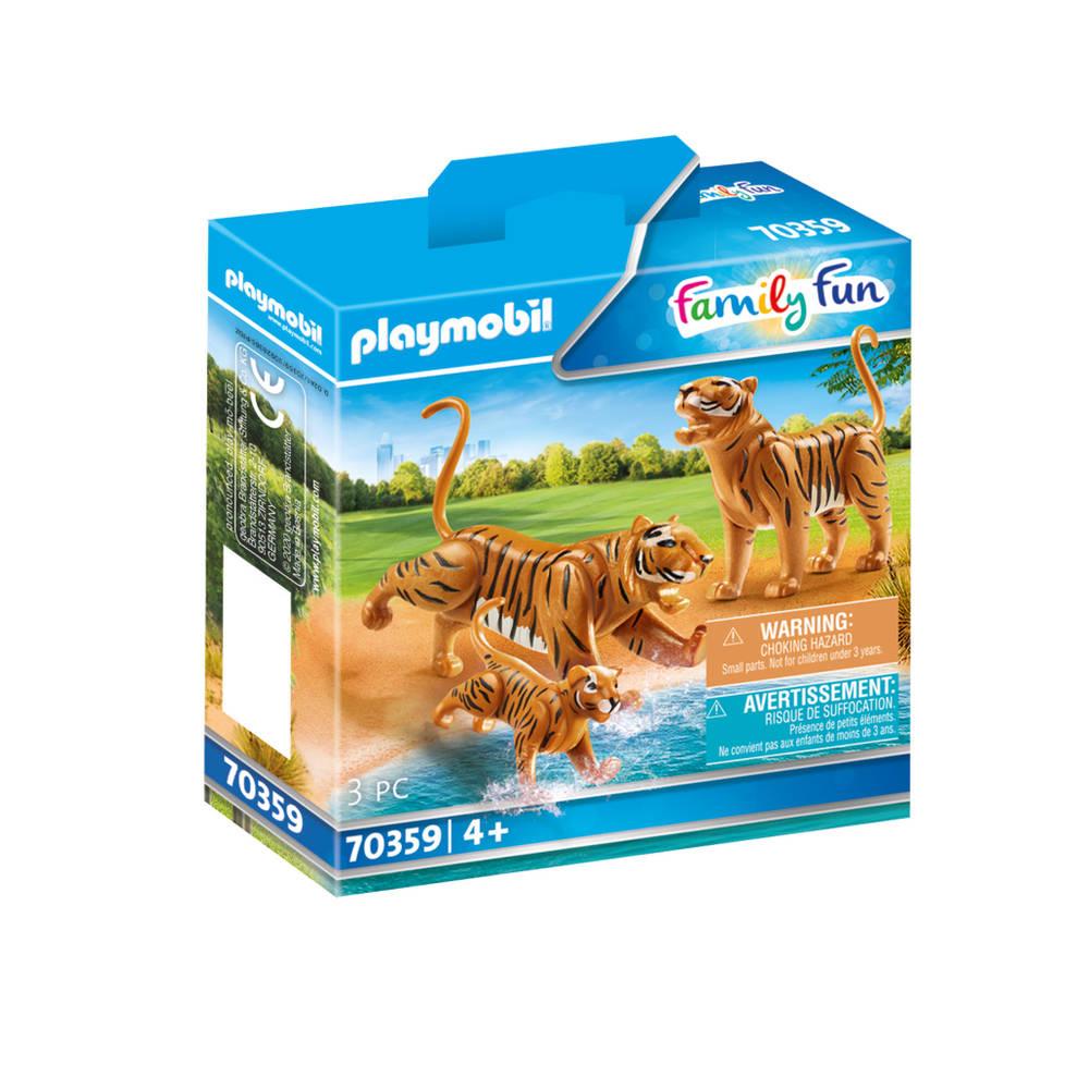 PLAYMOBIL Family Fun 2 tijgers met baby 70359