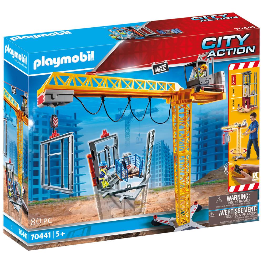 PLAYMOBIL City Action RC bouwkraan met bouwonderdeel 70441