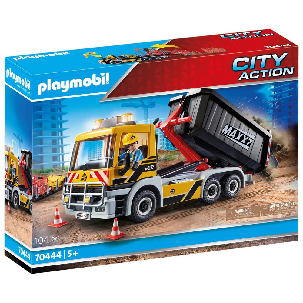 PLAYMOBIL City Action vrachtwagen met wissellaadbak 70444