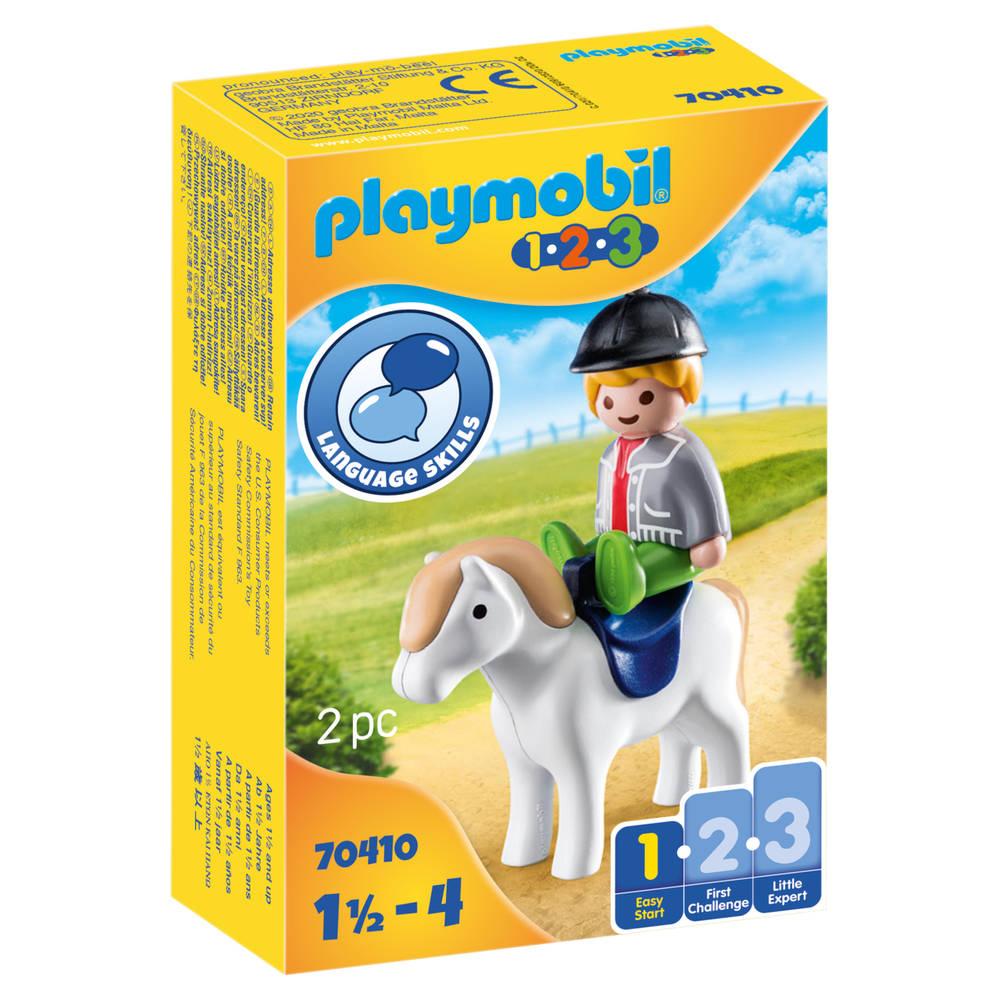 PLAYMOBIL 1.2.3 jongen met pony 70410