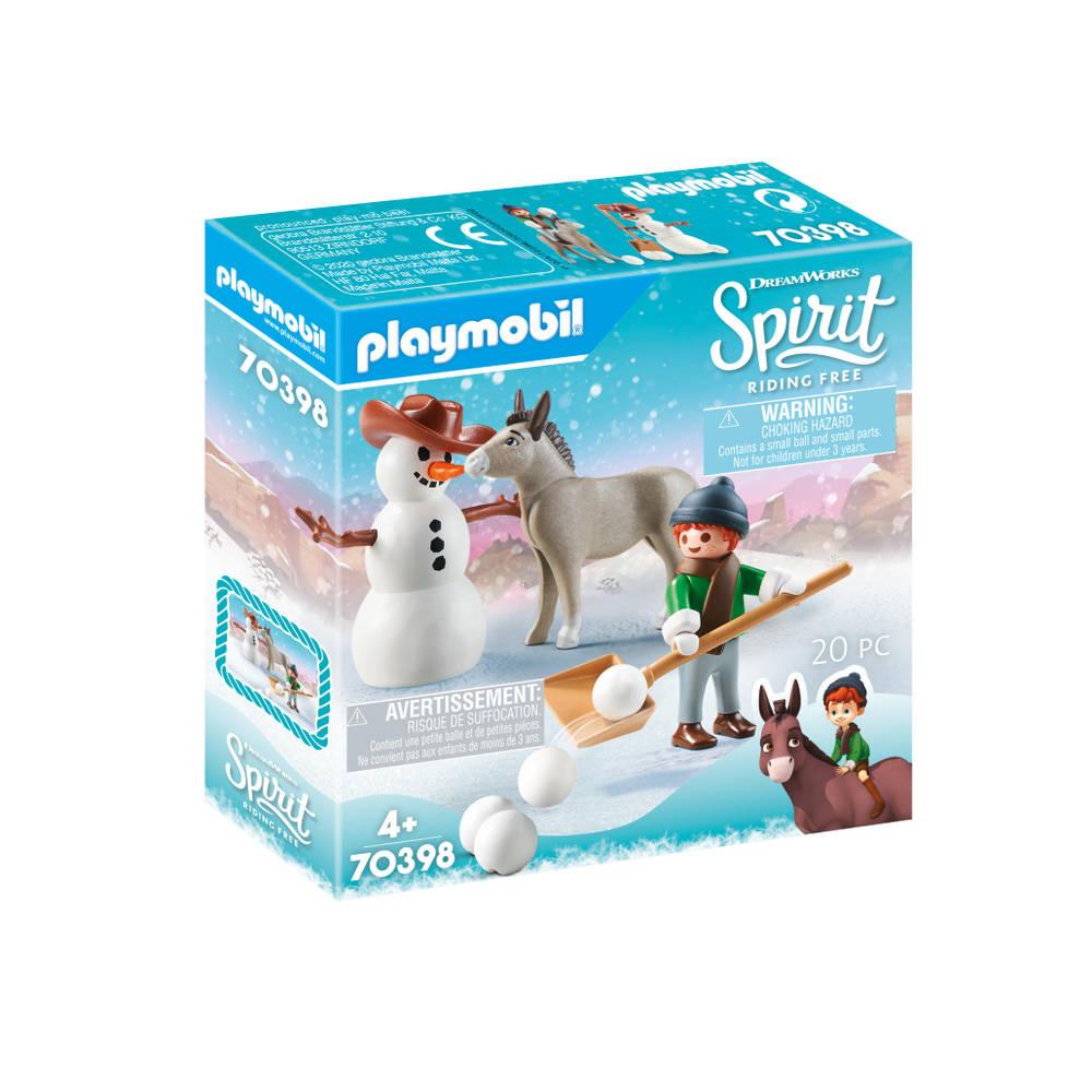 PLAYMOBIL Spirit sneeuwpret met Snips en meneer Carrots 70398