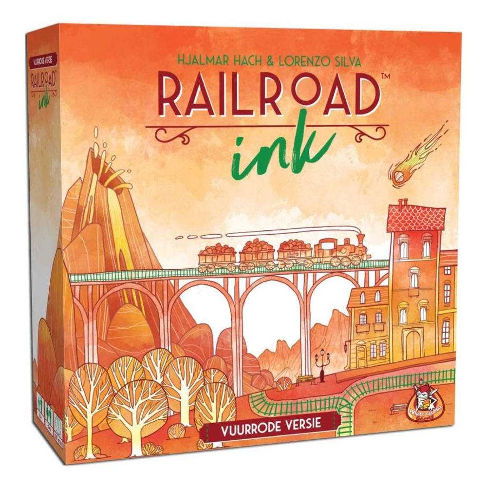 Railroad Ink vuurrode versie