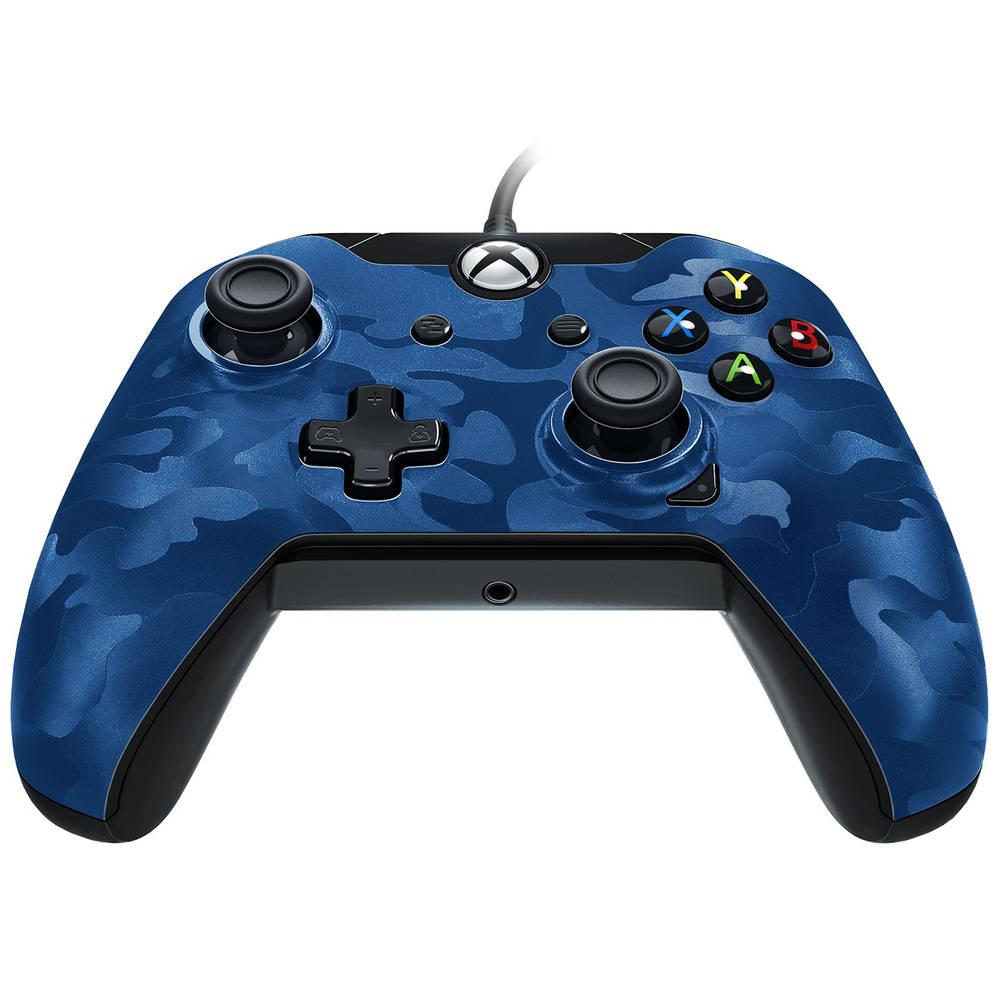 Xbox One PDP bedrade controller - blauw camo