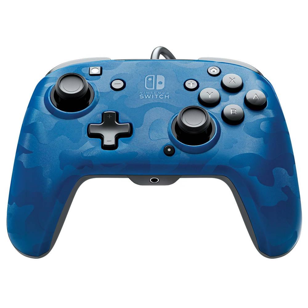 Nintendo Switch PDP Faceoff Deluxe bedrade controller - blauw camo