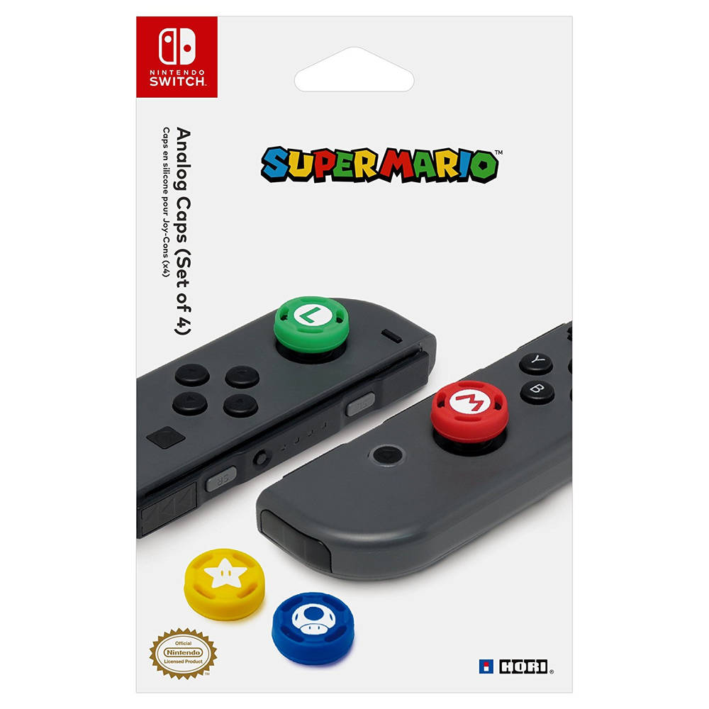 Nintendo Switch Hori controller duimknoppen Super Mario set 4-delig
