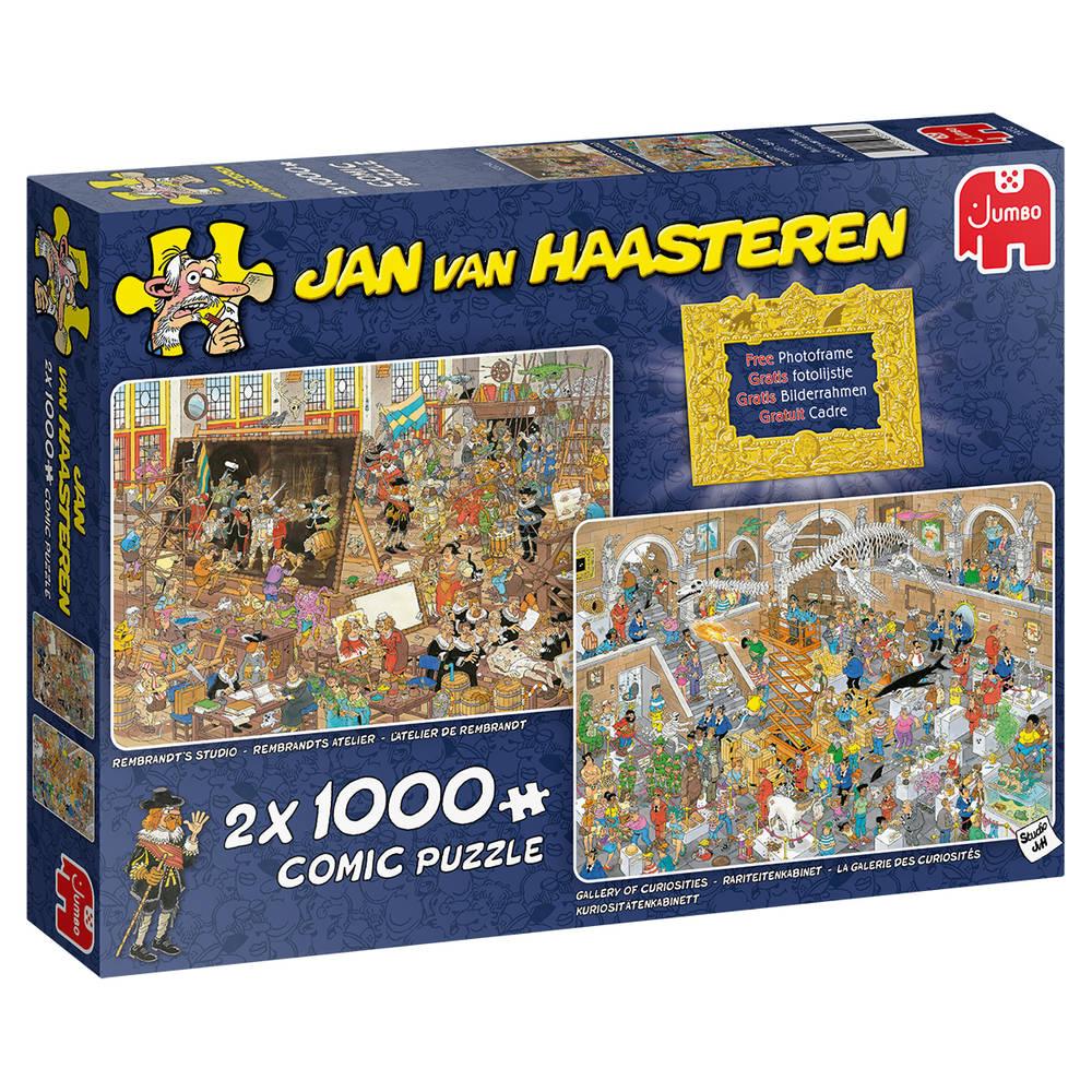 Jumbo Jan van Haasteren puzzelset Een dagje naar het museum - 2 x 1000 stukjes
