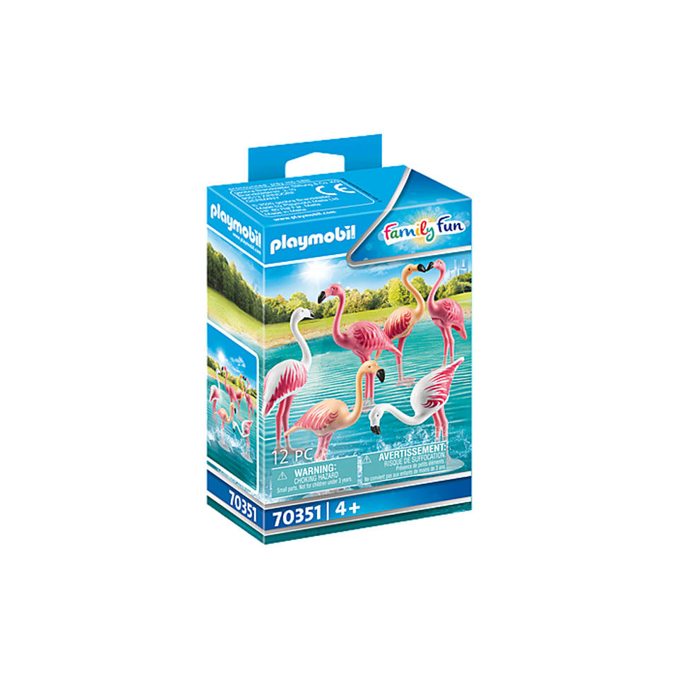 PLAYMOBIL Family Fun zwerm flamingo's 70351