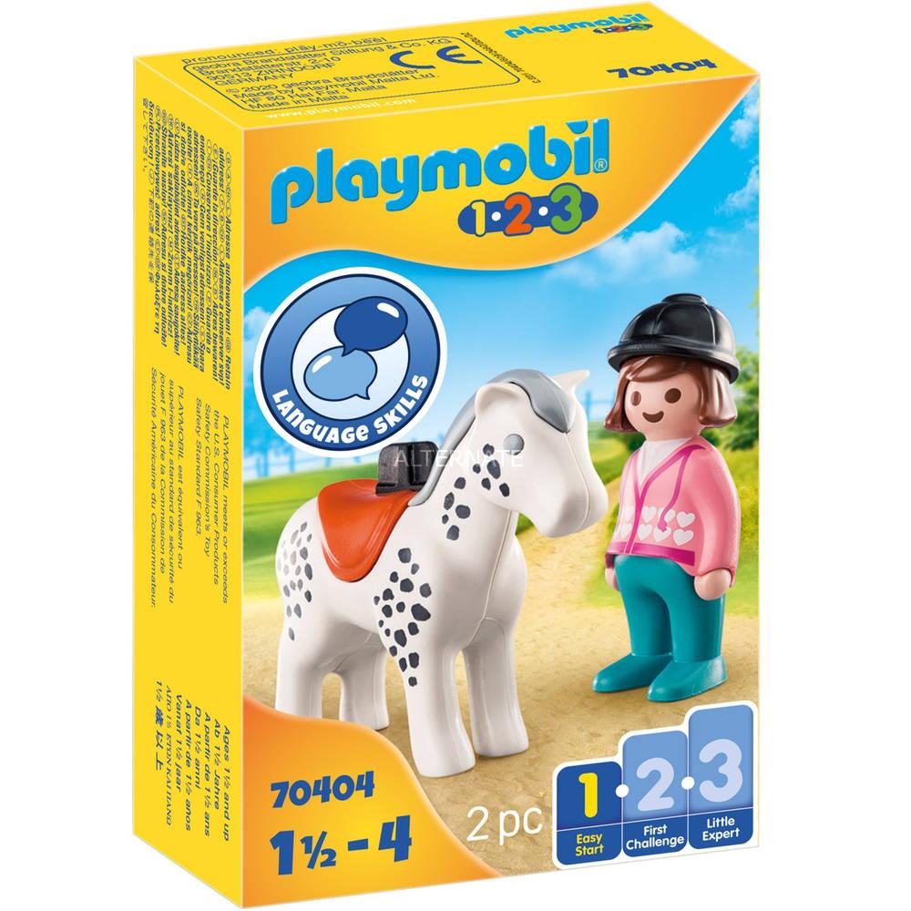 PLAYMOBIL 1.2.3 ruiter met paard 70404