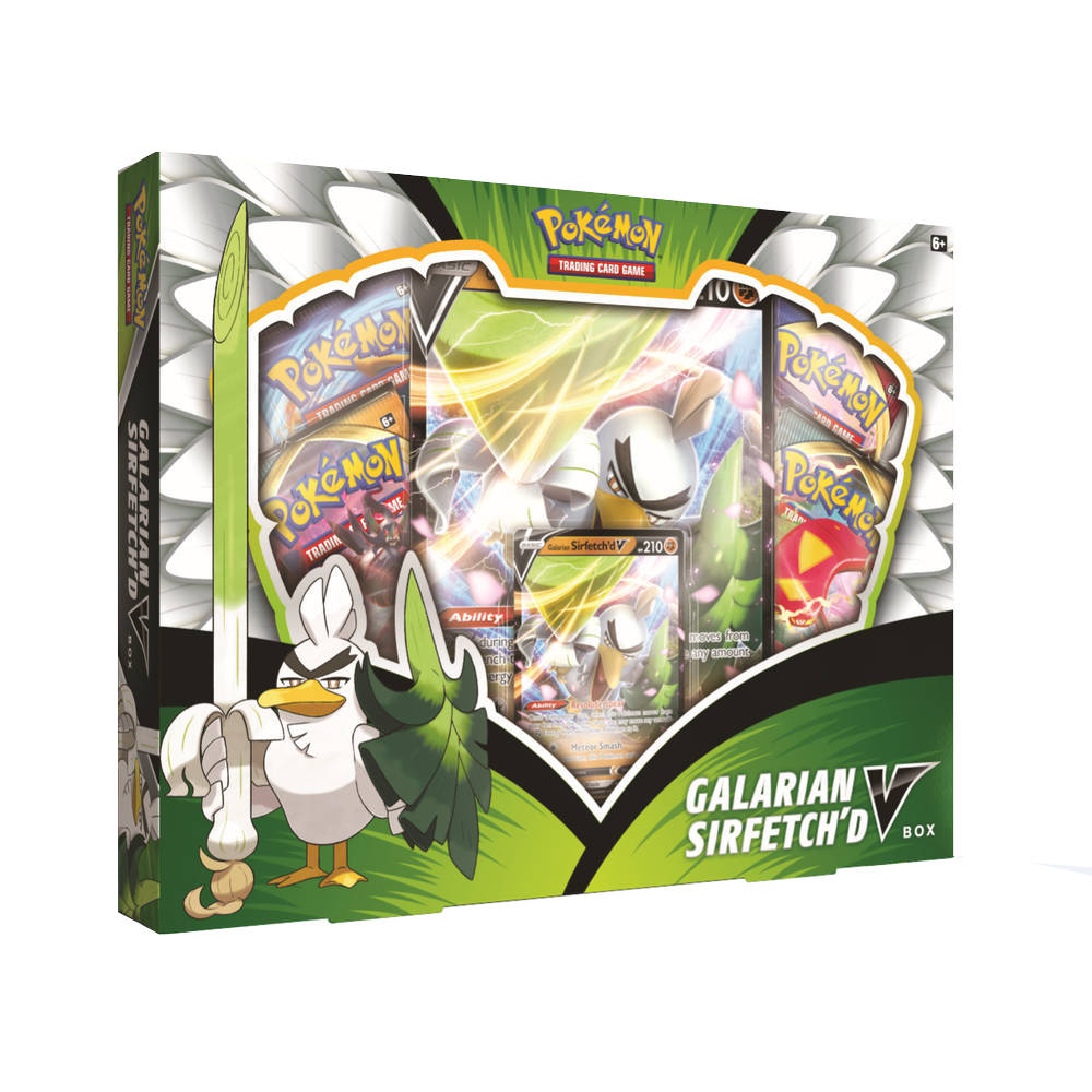 Pokémon TCG Galarian Sirfetch'd V box