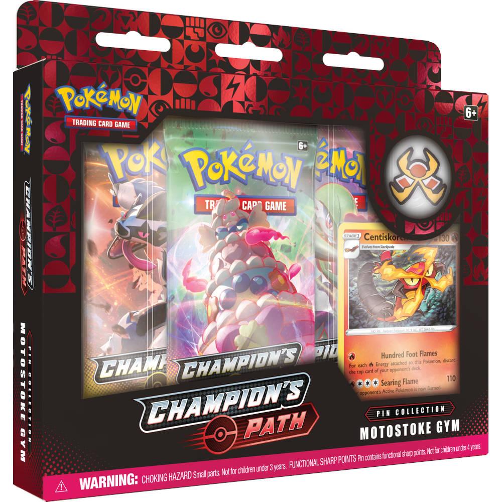 Pokémon TCG pin box Champion's Patch Motostoke Gym