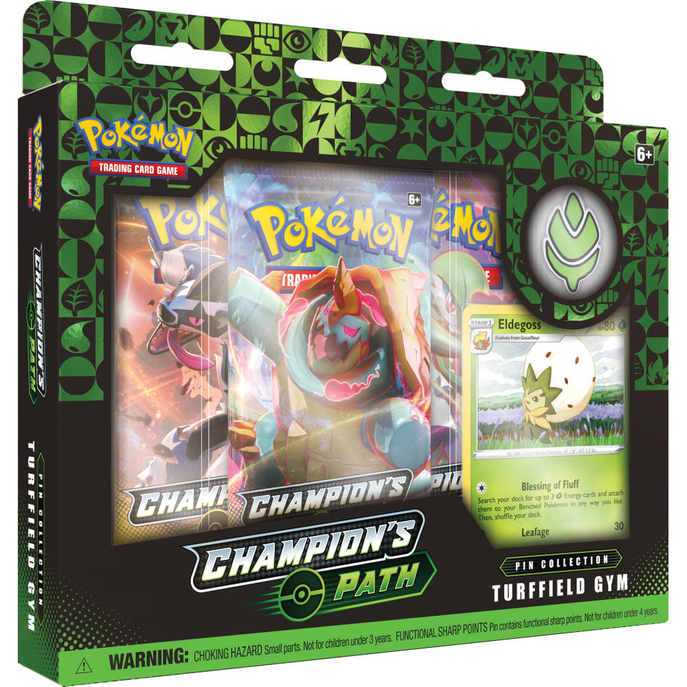 Pokémon TCG pin box Champion's Patch Turffield Gym