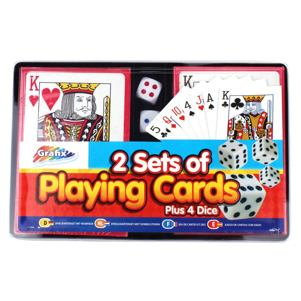 Grafix speelkaarten en dobbelstenen