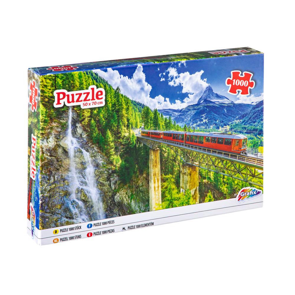 Grafix puzzel berg spoorweg - 1000 stukjes