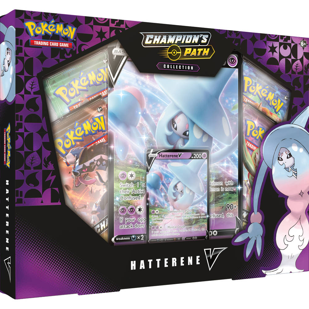 Pokémon TCG Champion's Path Hatterene V box