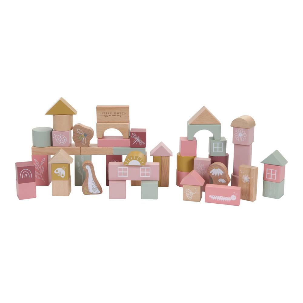 Little Dutch houten bouwblokken - roze