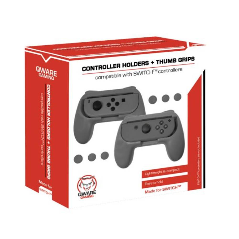 Qware Switch gaming handgrip - grijs