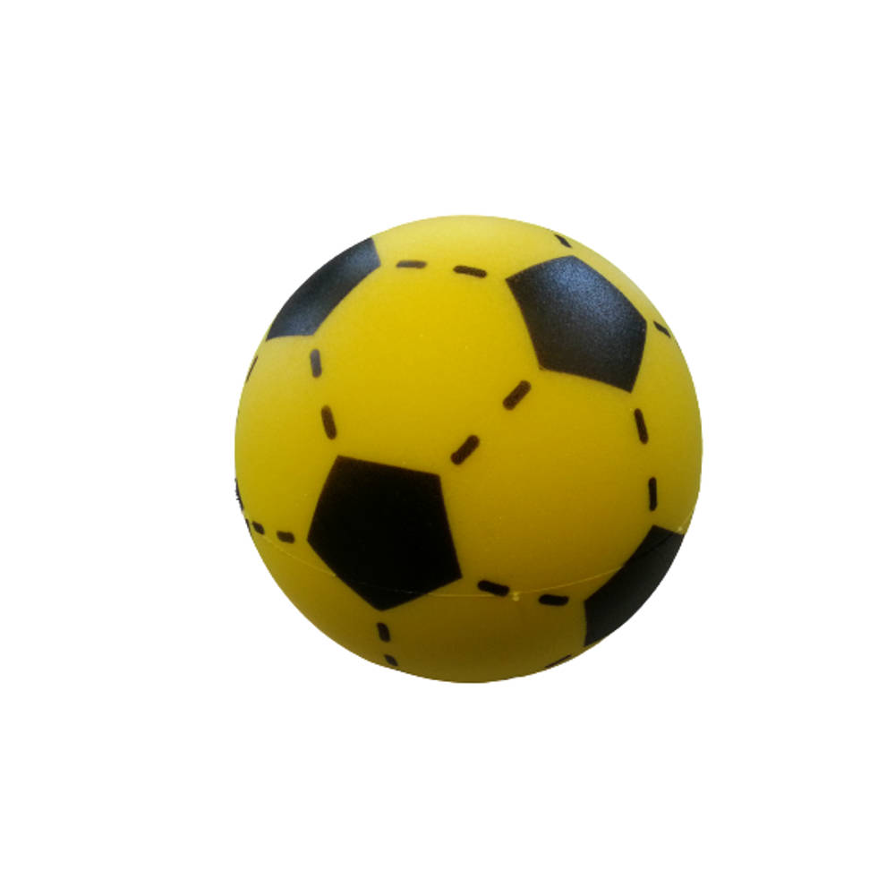 Soft voetbal - 20 cm - geel