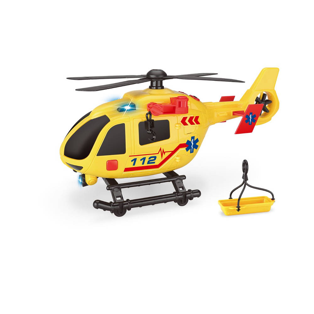 Reddingshelikopter met licht en geluid