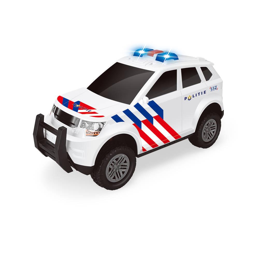Politieauto met frictie met licht en geluid