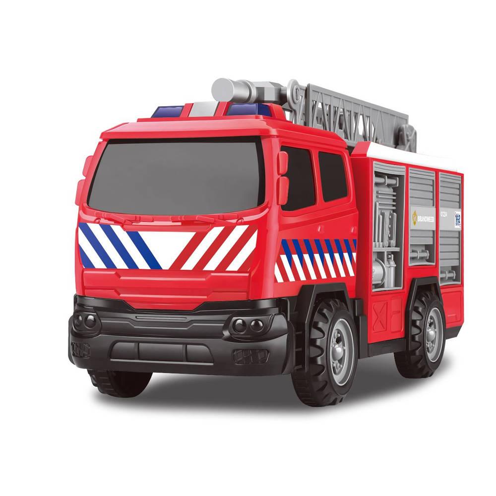 Brandweertruck met frictie met licht en geluid