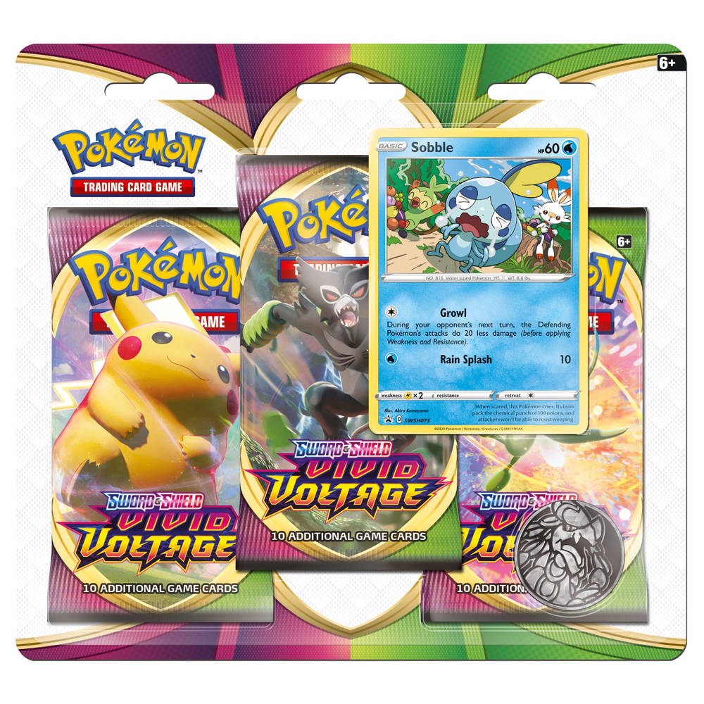 Pokémon TCG Sword & Shield Vivid Voltage booster blister Sobble