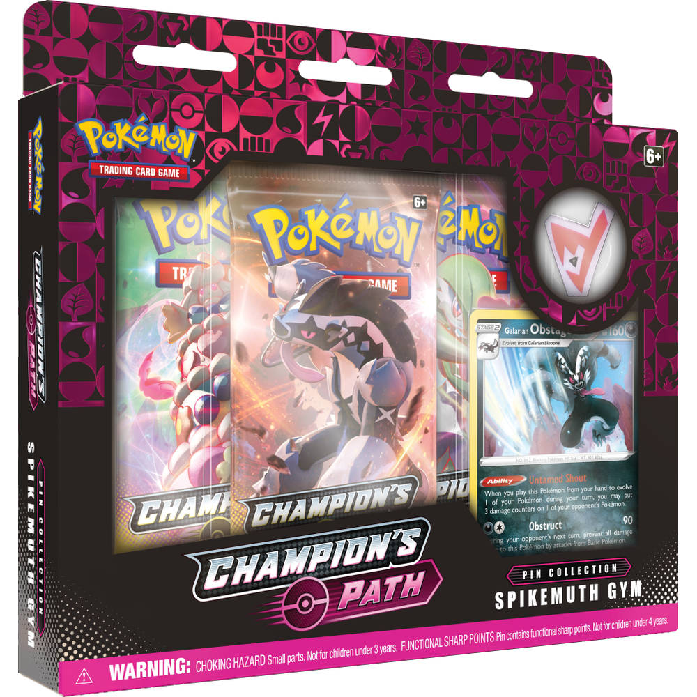 Pokémon TCG Champions Path pin collectie Spikemuth Gym