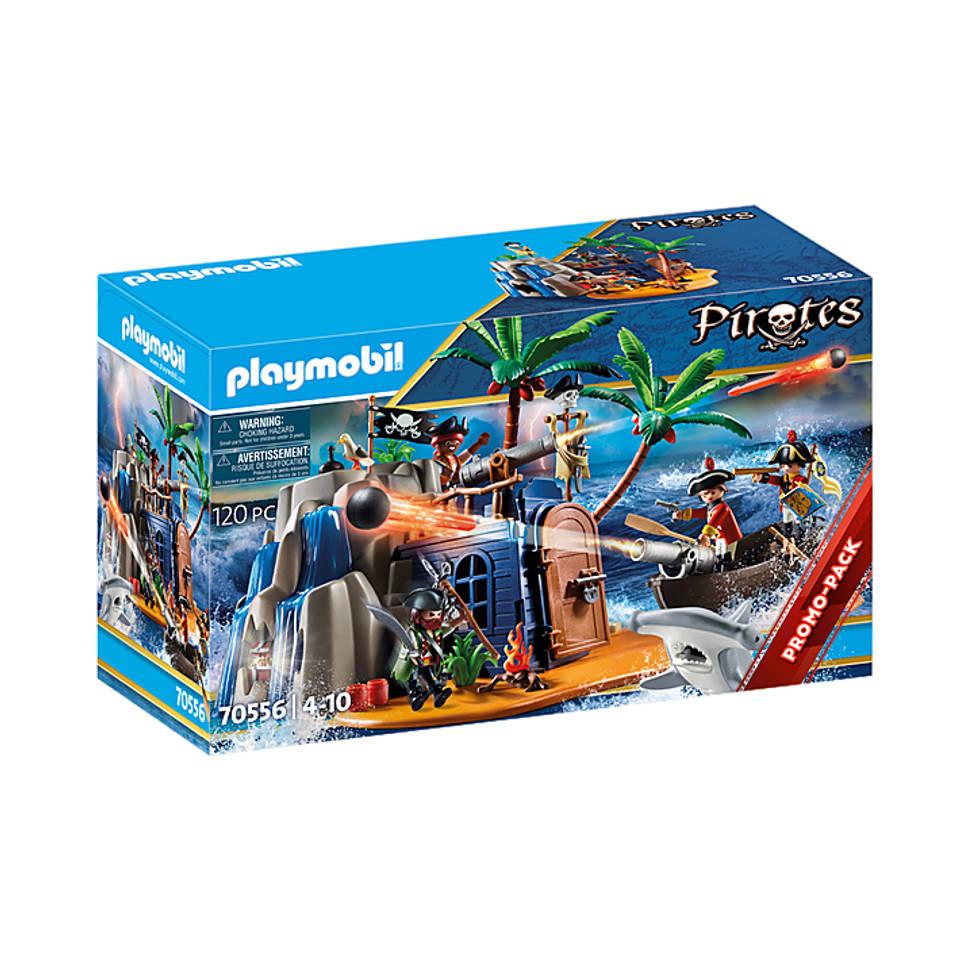 PLAYMOBIL Pirates pirateneiland met schuilplaats voor schatten 70556