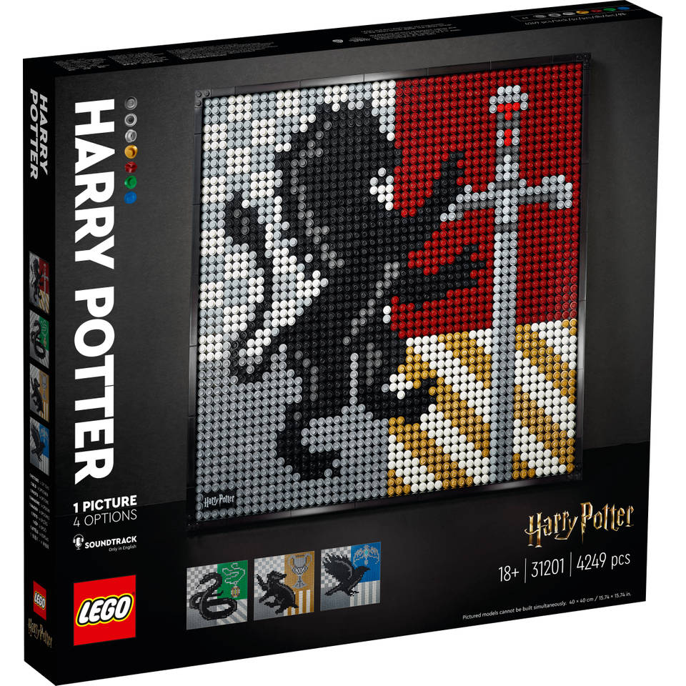 LEGO Art Harry Potter Hogwarts Crests 31201