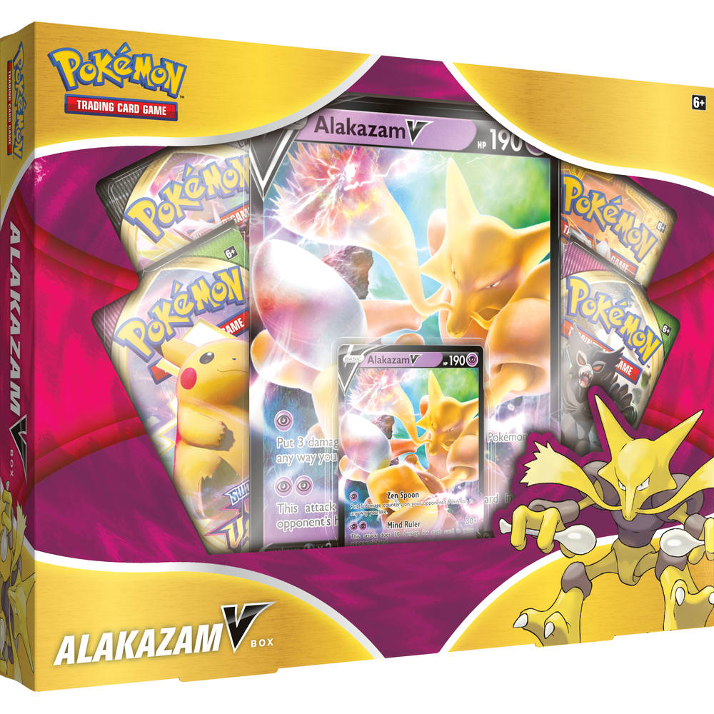 Pokémon Trading Cards Game Alakazam V box