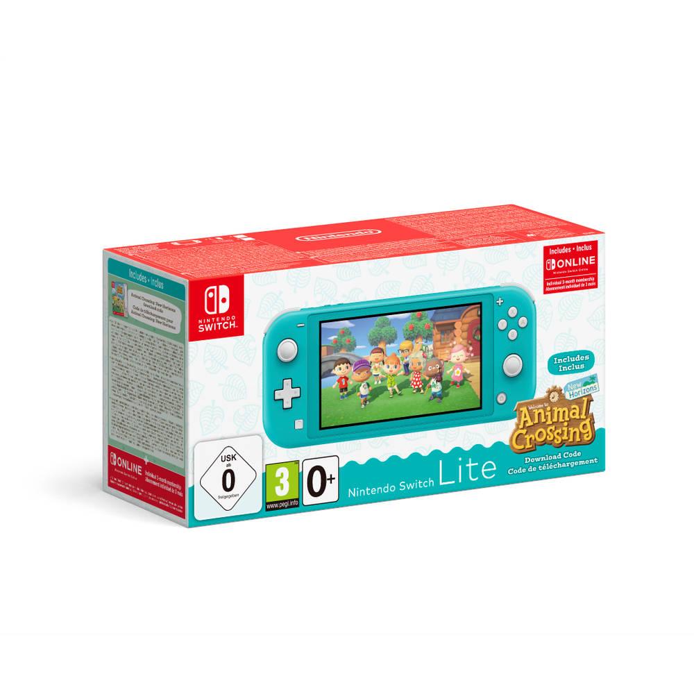 Nintendo Switch Lite turquoise + Animal Crossing: New Horizons + 3 maanden gratis Nintendo Switch online lidmaatschap