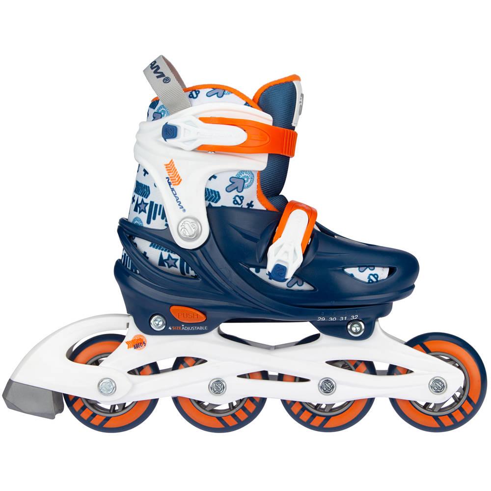 Nijdam Traffic Racer inline skates - maat 37/40 - blauw