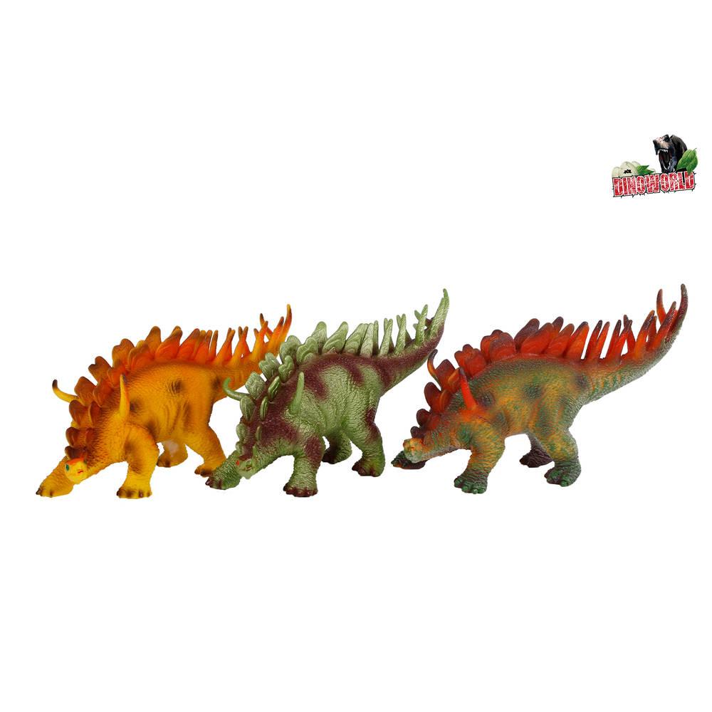 Dinoworld dinosaurus met geluid Stegosaurus - 35 cm