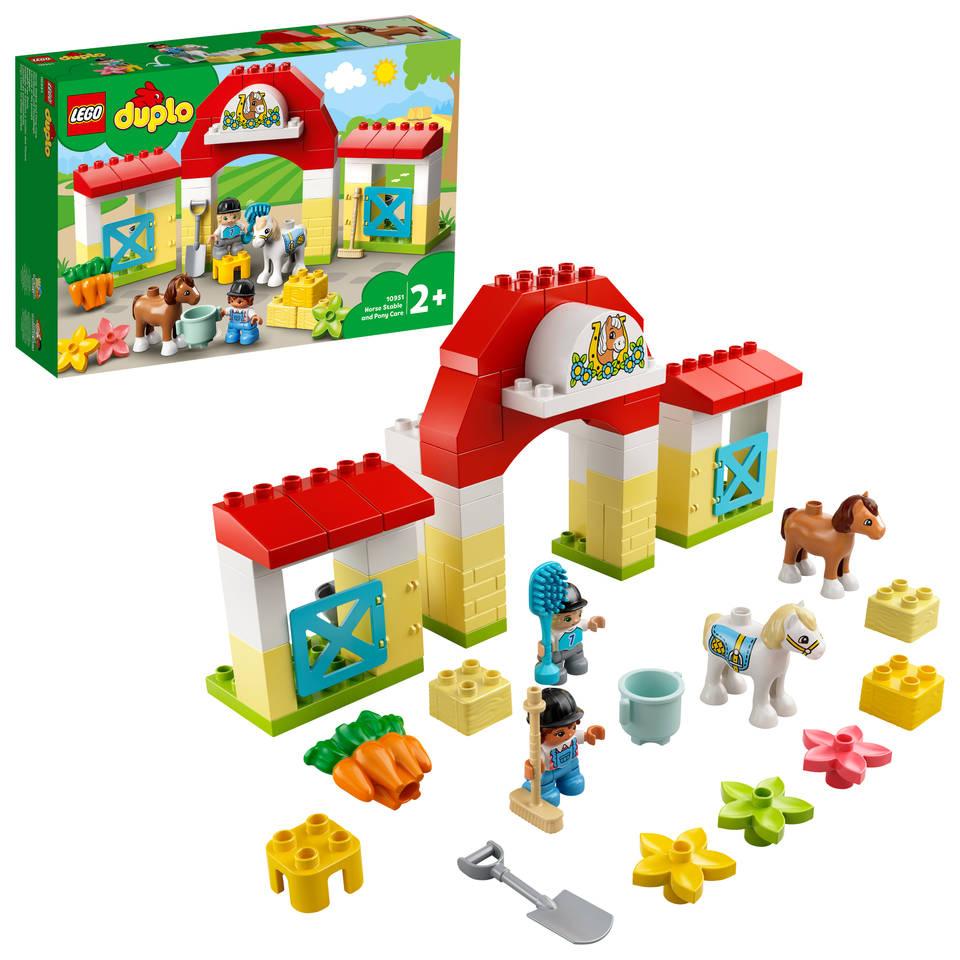 LEGO DUPLO paardenstal en pony verzorgen 10951