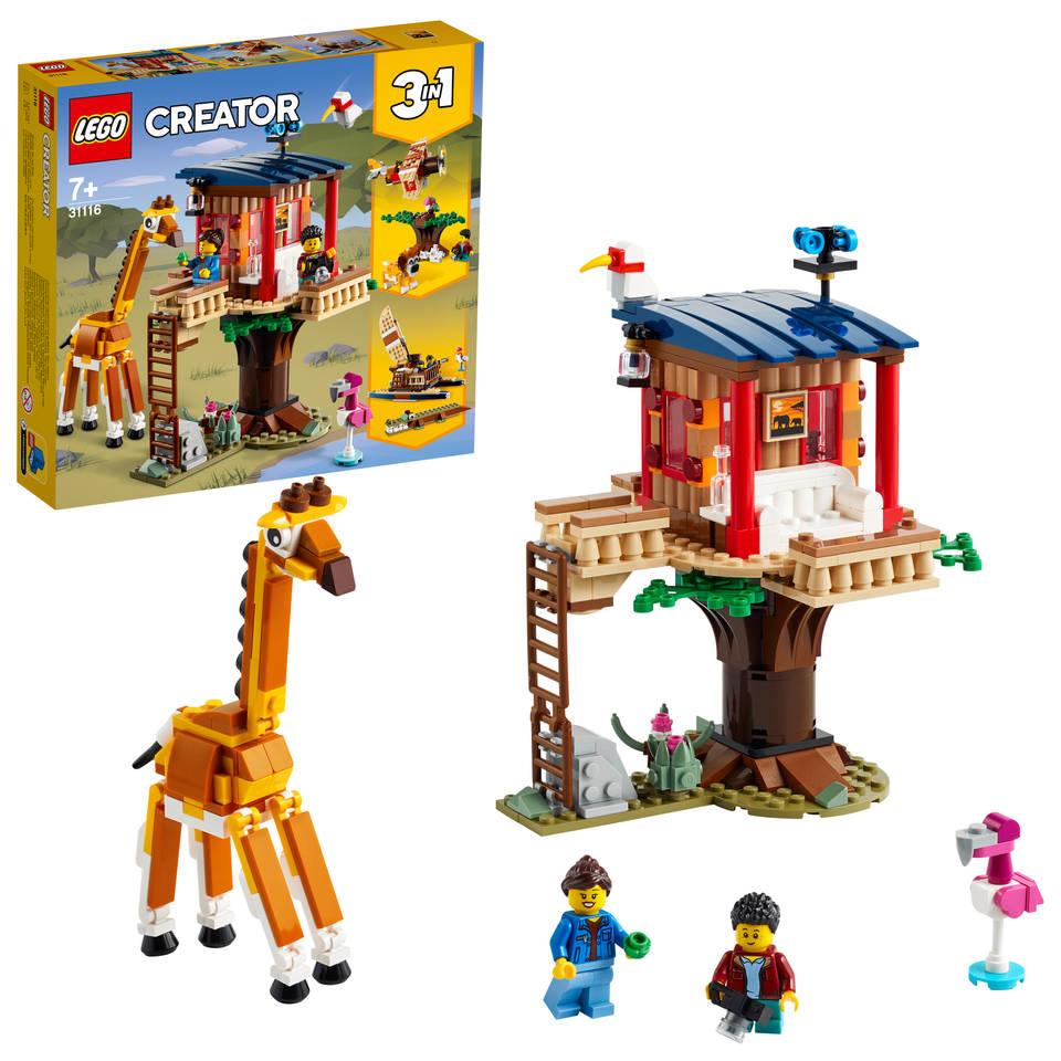 LEGO Creator safari wilde dieren boomhuis 31116