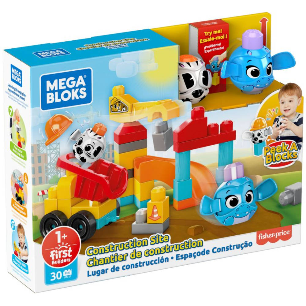 Fisher-Price Mega Bloks kiekeboe blokken