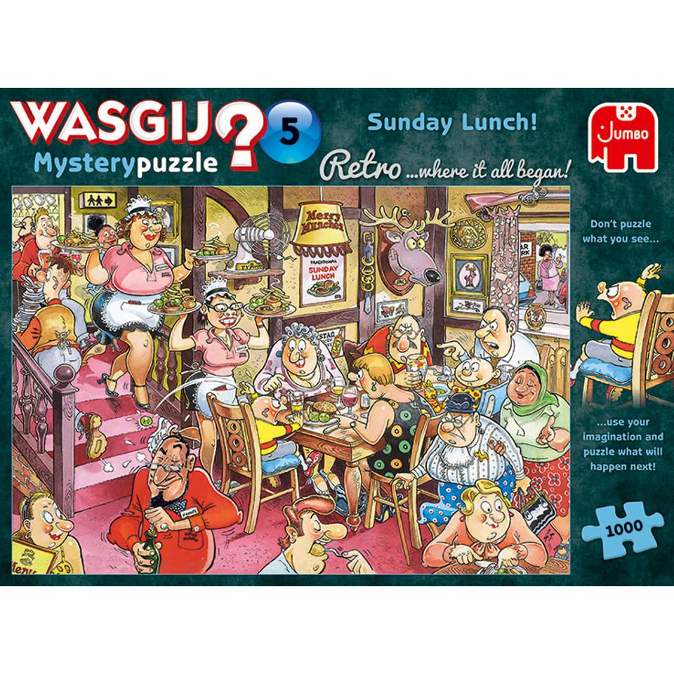 Jumbo Wasgij Retro Mystery 5 puzzel zondagse lunch - 1000 stukjes