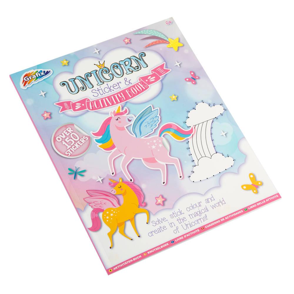 Grafix eenhoorn opdrachtenboekje en stickerboek