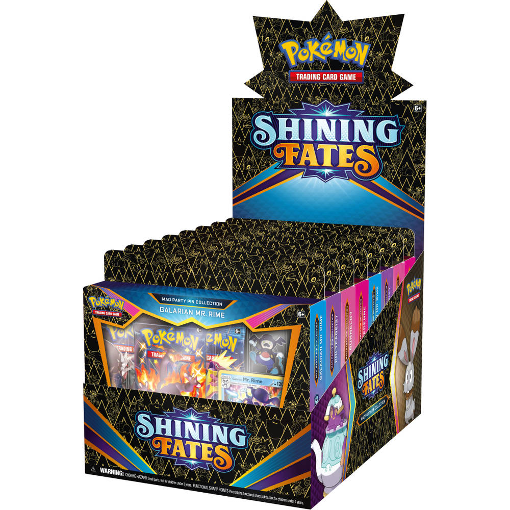 Pokémon Trading Card Game Shining Fates Mad party pin collectie