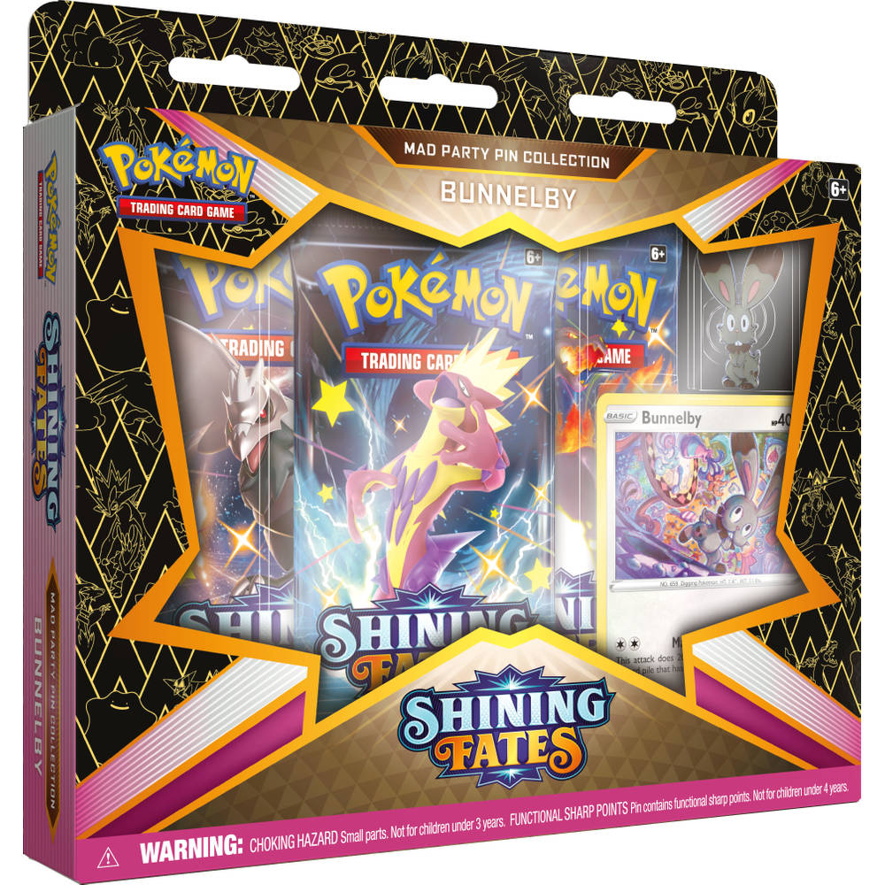 Pokémon Trading Card Game Shining Fates Mad party pin collectie Bunnelby