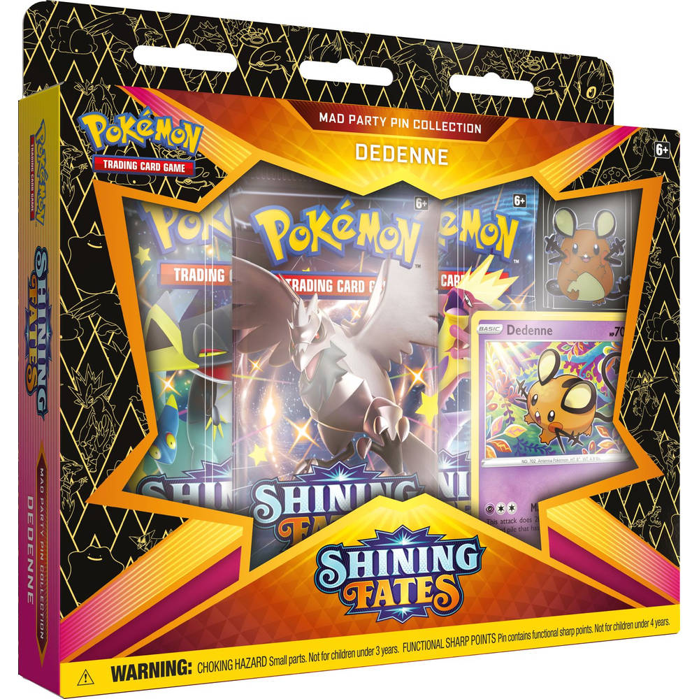 Pokémon Trading Card Game Shining Fates Mad party pin collectie Dedenne