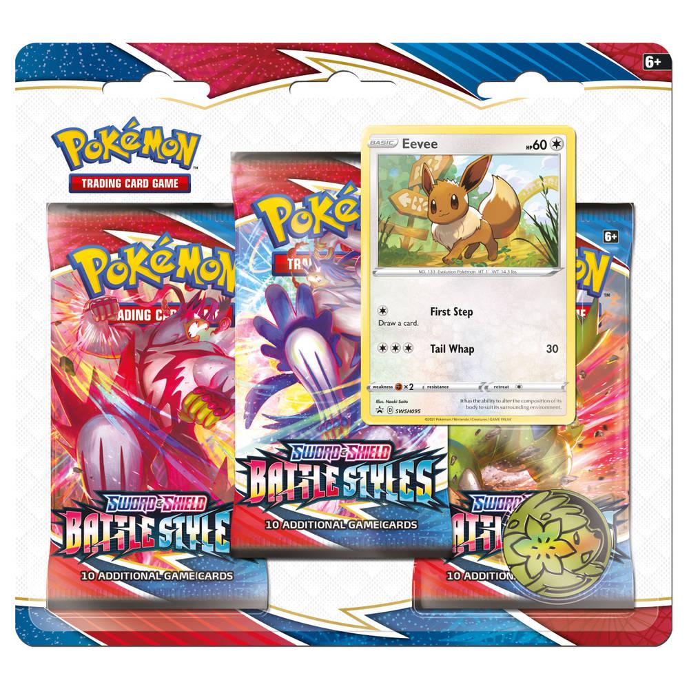 Pokémon Trading Card Game Sword & Shield Battle Styles 3-boosterblister Eevee
