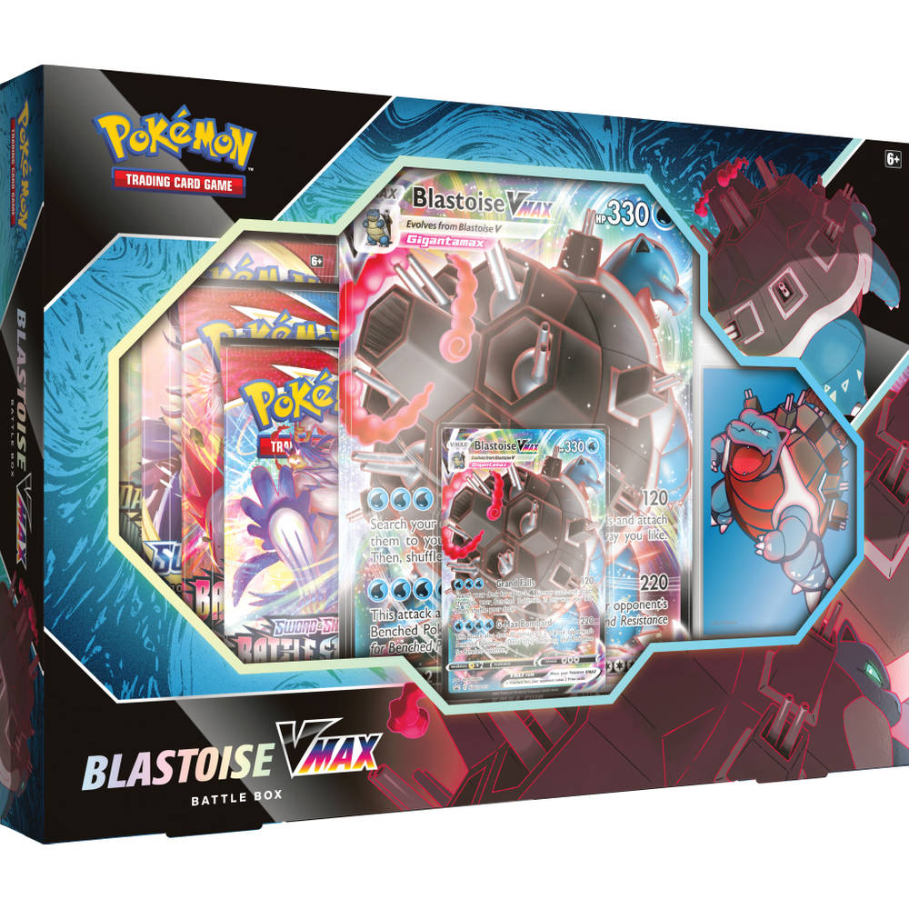 Pokémon TCG Blastoise VMAX Battle box