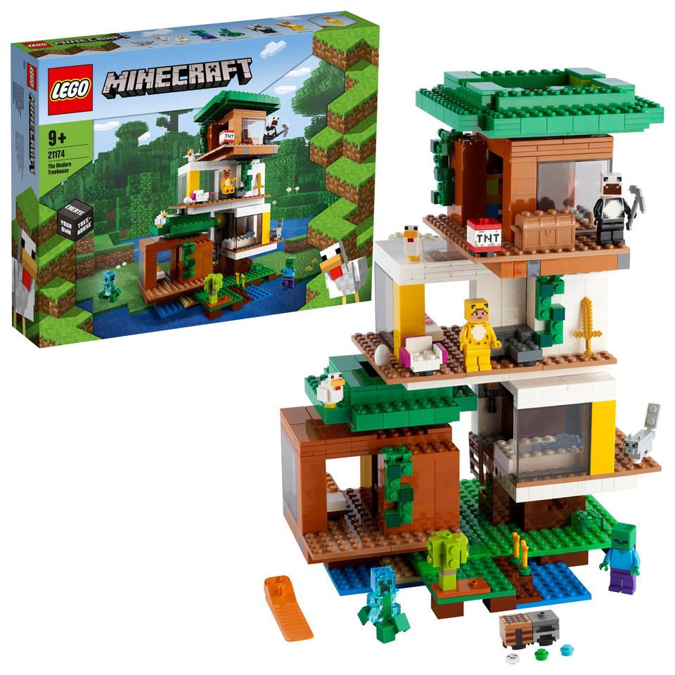 LEGO Minecraft de moderne boomhut 21174
