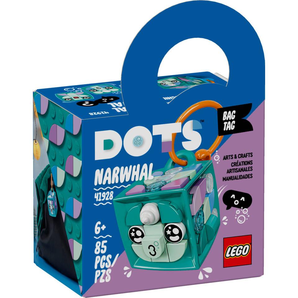 LEGO DOTS tassenhanger narwal 41928