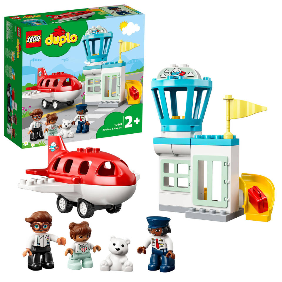 LEGO DUPLO vliegtuig en vliegveld 10961